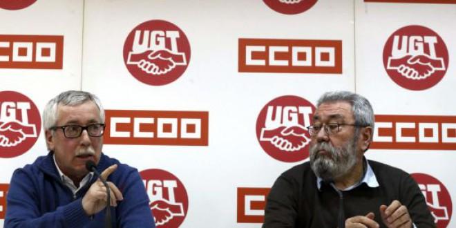 CC OO y UGT piden una renta mínima para dos millones de personas