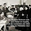 Hoy se cumple el 82 aniversario de la primera vez que las mujeres pudieron ejercer el derecho al voto en España.