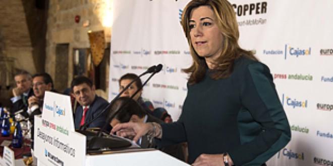 Díaz reivindica el espíritu del 28F que «abrió la puerta a la igualdad de oportunidades» para Andalucía y España