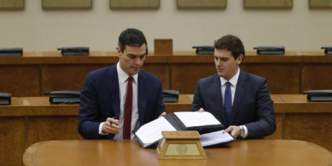 Las 140 principales medidas del acuerdo entre PSOE y Ciudadanos