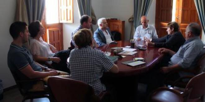 Visita institucional del diputado de C's al Ayuntamiento