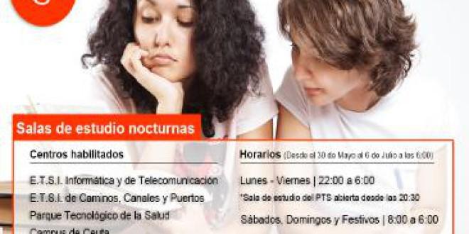 La UGR abre salas de estudio nocturnas para los exámenes de junio y julio