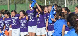 Un equipo infantil formado por chicas gana la Liga de Segunda masculina
