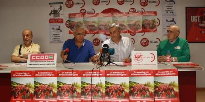 La marcha por las pensiones dignas de UGT y CCOO llega a Granada  HOY