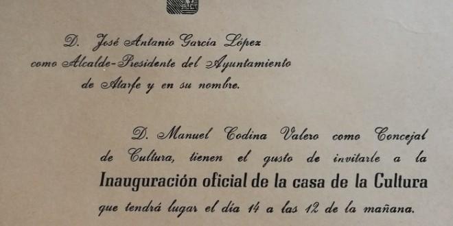 «LA CASA DE LA CULTURA DE ATARFE» por Jose Enrique Granados