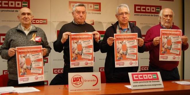 CCOO y UGT convocan concentraciones en Granada para «defender las pensiones de hoy y de mañana»