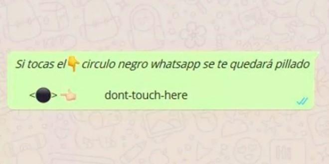 Qué es el círculo negro de WhatsApp que no deberías tocar, pero no puedes resistirte…