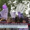 Multitudinaria concentración feminista ante el Parlamento andaluz y en las provincias,para protestar contra la investidura de Moreno Bonilla