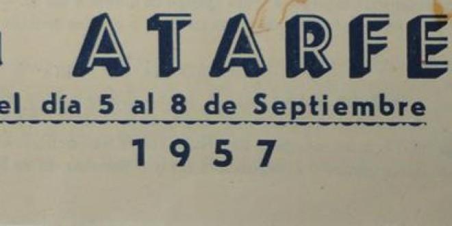 Atarfe anecdotario: 1957 PROGRAMA DE FIESTAS CON DOS PORTADAS DIFERENTES.