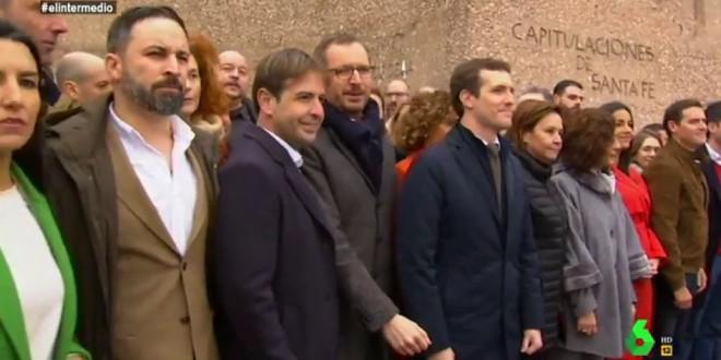 La foto de Colón, en las instituciones de Madrid
