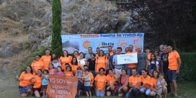 ATARFE: El Club Veleta hace entrega a la Fundación Josep Carreras del cheque con la recaudación de la prueba solidaria O-Médula II celebrada en Sierra Elvira
