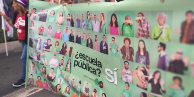 Granada se moviliza contra los recortes en Educación