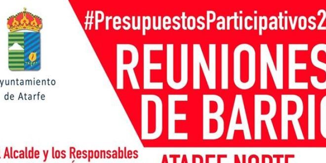 REUNIONES DE BARRIO: BARRIO DE SANTA AMALIA  Y  ATARFE NORTE