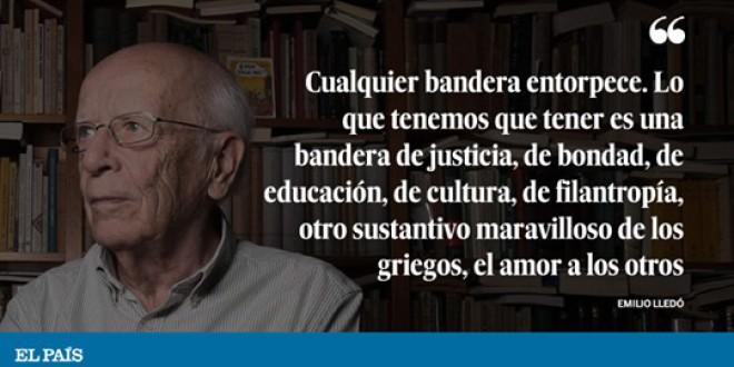 """Emilio Lledó: """"En el conflicto catalán han sobrado ignorancia y pasión"""""""