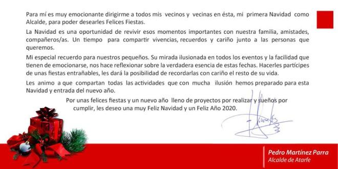 FELICITACIÓN DE NAVIDAD DEL ALCALDE DE ATARFE