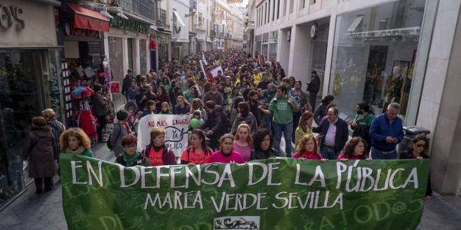 La enseñanza pública andaluza, en pie de guerra : MAÑANA DIA 4  EN HUELGA