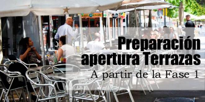 PREPARACIÓN DE LA APERTURA DE TERRAZAS EN ATARFE PARA LA FASE 1 DE LA DESESCALADA
