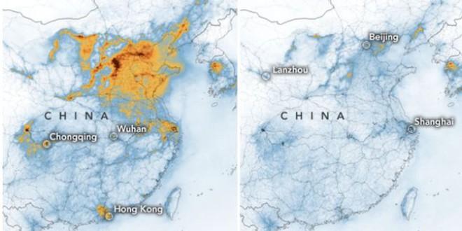 Según la NASA, el coronavirus está ayudando a reducir la contaminación en China