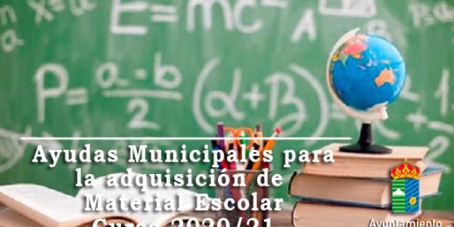 ATARFE: AYUDAS MUNICIPALES PARA LA ADQUISICIÓN DE MATERIAL ESCOLAR CURSO 2020/2021