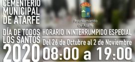 ATARFE: NORMAS DE FUNCIONAMIENTO DEL CEMENTERIO MUNICIPAL CON MOTIVO DE LA FESTIVIDAD DE TODOS LOS SANTOS