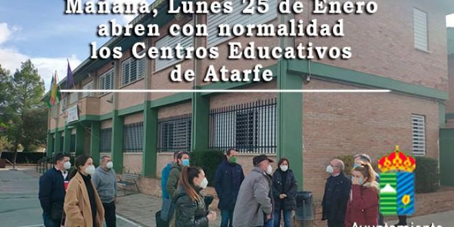 ATARFE: LOS CENTROS ESCOLARES ESTÁN SEGUROS Y SON APTOS PARA LA ACTIVIDAD DOCENTE