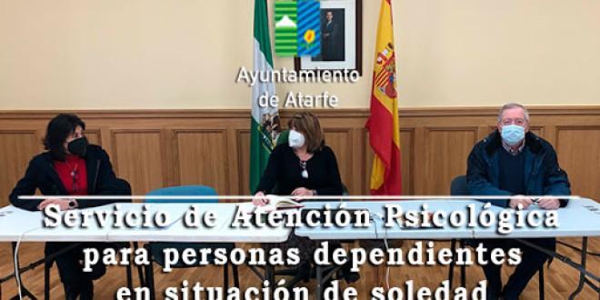 ATARFE: ATENCIÓN PSICOLÓGICA PARA PERSONAS DEPENDIENTES EN SITUACIÓN DE SOLEDAD