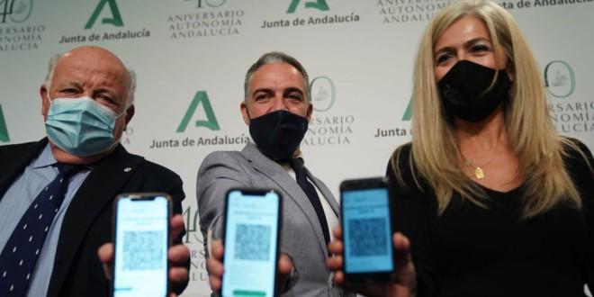 Los andaluces podrán llevar su certificado digital de vacunación en el móvil