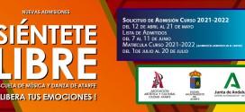 Solicitud de Admisión Escuela de Música y Danza Ciudad Atarfe Curso 2021 -2022