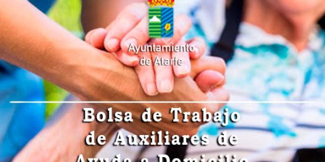 ATARFE: BOLSA DE TRABAJO DE AUXILIARES DE AYUDA A DOMICILIO