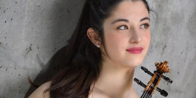 La violinista granadina María Dueñas, ganadora del prestigioso Concurso Yehudi Menuhin