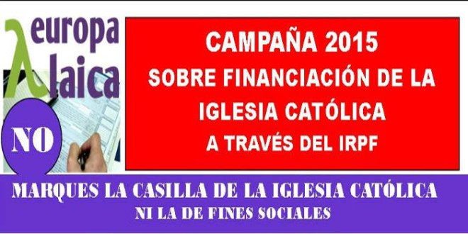 RENTA 2014: NO MARQUES LA CASILLA DE LA IGLESIA NI DE FINES SOCIALES