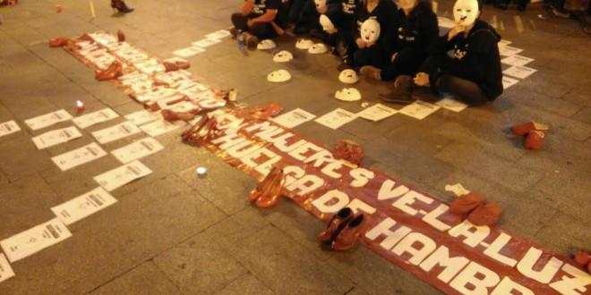 Nueve mujeres inician en Sol una huelga de hambre contra la violencia machista