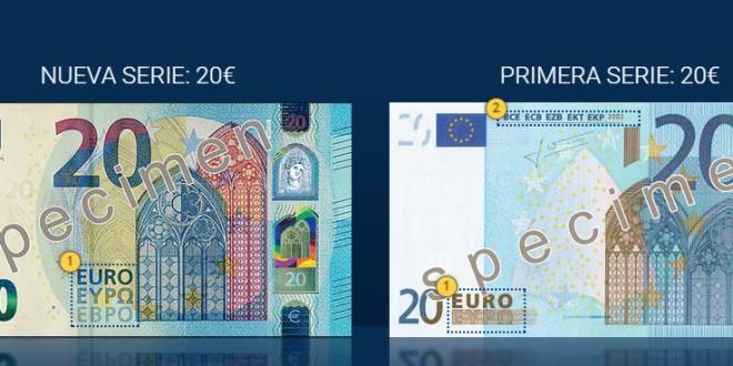 FACUA informa de que el nuevo billete de 20 euros comenzará a circular el 25 de noviembre.