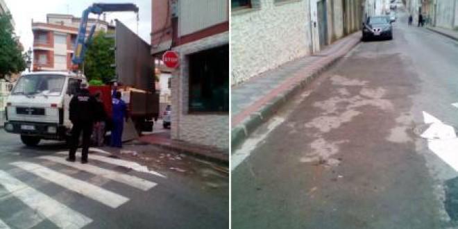 El Ayuntamiento de Atarfe retira las terrazas ilegales