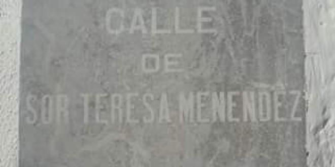 Atarfe anecdotario: 1958 HOMENAJE A SOR TERESA DE JESÚS MENENDEZ IBÁÑEZ.