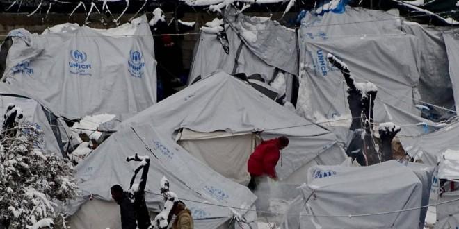 Así sufren los refugiados la ola de frío polar