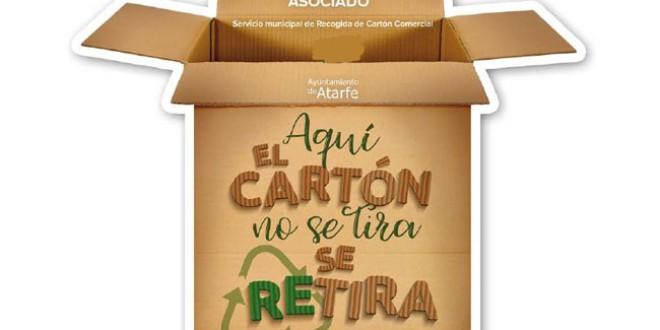Un total de 87 comercios y negocios de Atarfe se suman a la campaña de recogida de cartón