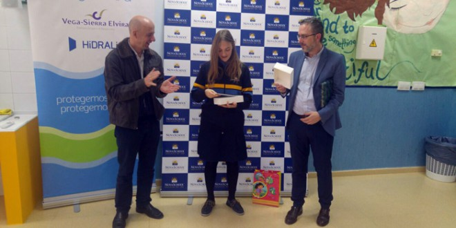 Una alumna de Atarfe, premiada en el IV Certamen de relatos de agua de Aguasvira