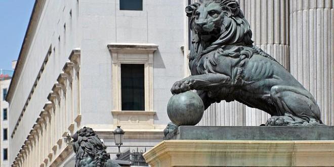 La historia de «Hipómenes» y «Atalanta», el león y la leona que custodian el Congreso
