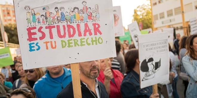 Andalucía afronta el miércoles huelga educativa contra el nuevo decreto de escolarización
