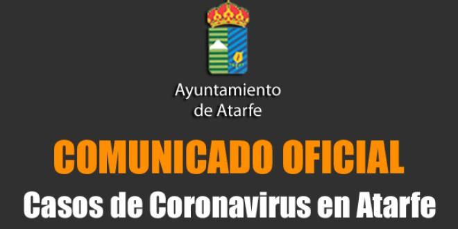 COMUNICADO OFICIAL SOBRE LOS CASOS DE CORONAVIRUS EN ATARFE