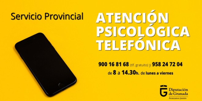 La Diputación de Granada pone en marcha un teléfono de Atención Psicológica para abordar las dificultades derivadas de la pandemia y el confinamiento