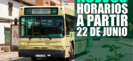 NUEVOS HORARIOS DE AUTOBUSES A PARTIR DEL LUNES 22 DE JUNIO Y PROTESTA DEL AYUNTAMIENTO