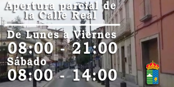 ATARFE: APERTURA PARCIAL DE LA CALLE REAL