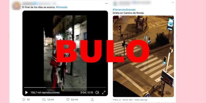 Bulos y desinformaciones sobre los terremotos de Granada
