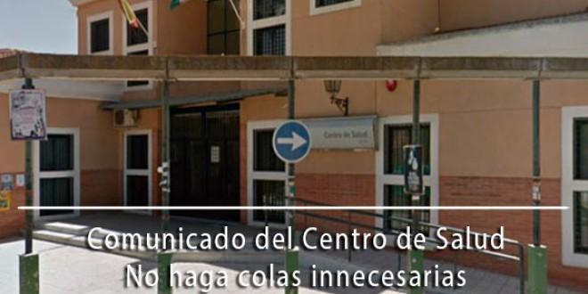 COMUNICADO CENTRO DE SALUD ATARFE