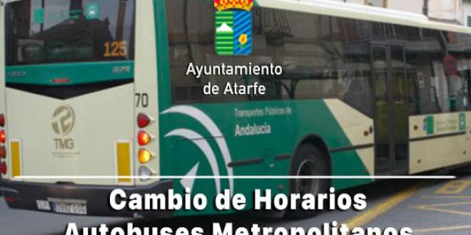 ATARFE:CAMBIO DE HORARIO EN LA LINEA 122