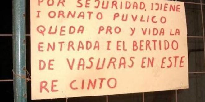 «LAS FALTAS DE ORTOGRAFÍA» por José Vaquero